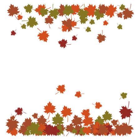 Autumn Leaf background template vector illustration Illustration