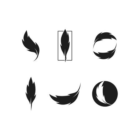 Feather ilustration  vector template design