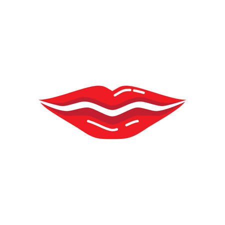 Beauty lips women illustration icon vector template