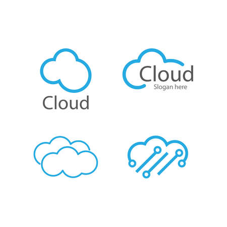Cloud Logo vector design Template 矢量图像