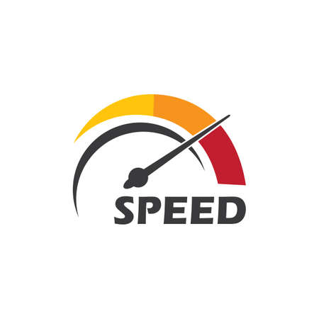 Speed,top speed,faster logo illustration vector design