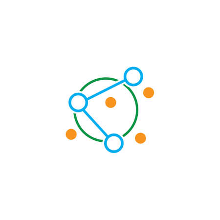 Molecule icon illustration vector design Stok Fotoğraf - 157600386