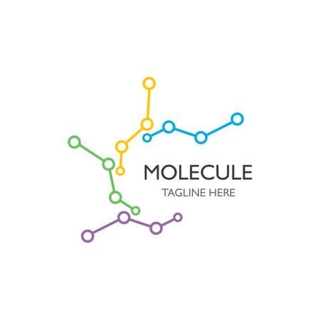 Molecule icon illustration vector design Çizim