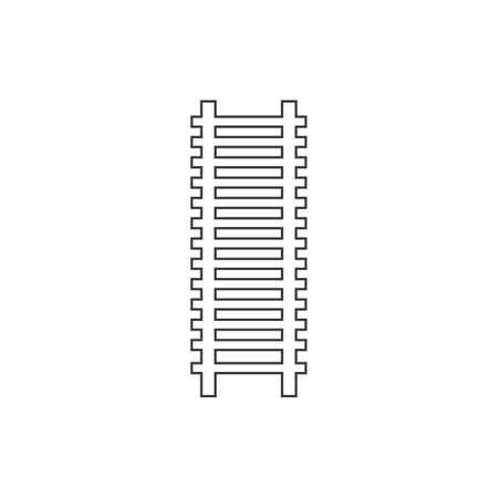 Railway icon illustration flat design vector Stok Fotoğraf - 157600391