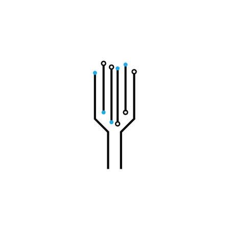 Circuit  logo vector template design Stok Fotoğraf - 157600396
