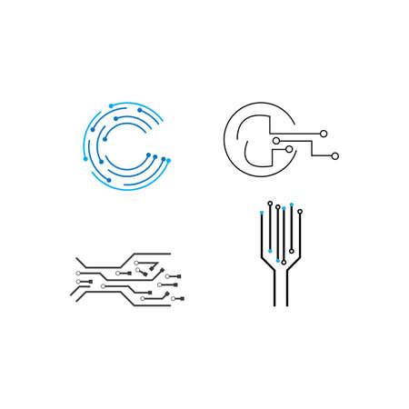 Circuit  logo vector template design