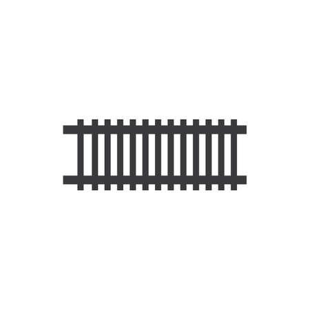 Railway icon illustration flat design vector Stok Fotoğraf - 157600523
