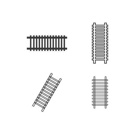 Railway icon illustration flat design vector
