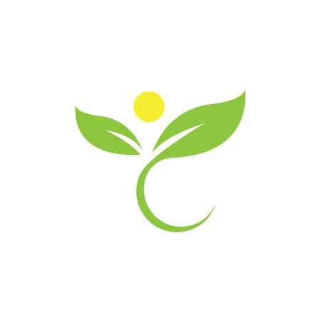 leaf logo illustration nature element vector Logo