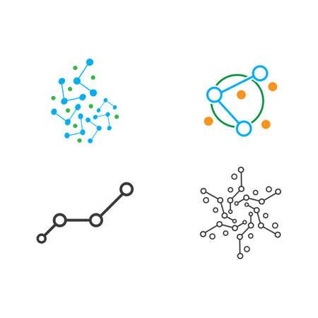 Molecule icon illustration vector design Stok Fotoğraf - 157600542