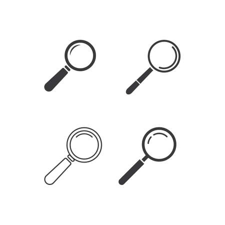 Magnifying glass icon illustration vector Stok Fotoğraf - 157847366