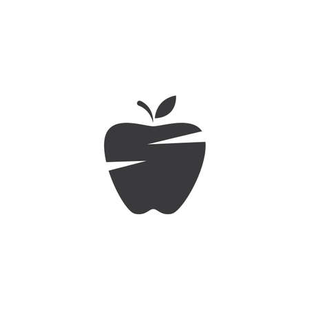 Fresh Apple fruit illustration logo vector design Stok Fotoğraf - 157782626