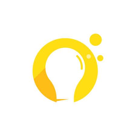 Bulb ilustration logo vector design Stok Fotoğraf - 157782628