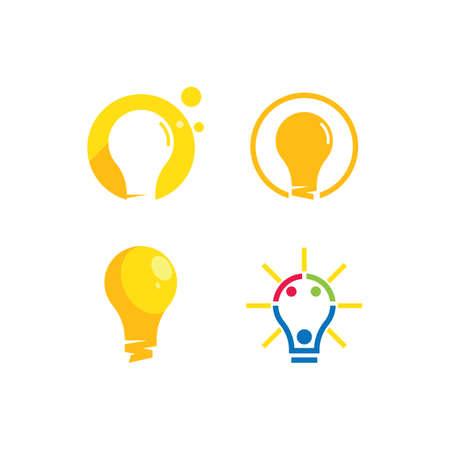 Bulb ilustration logo vector design Çizim