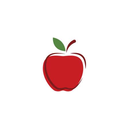 Fresh Apple fruit illustration logo vector design Stok Fotoğraf - 157782632