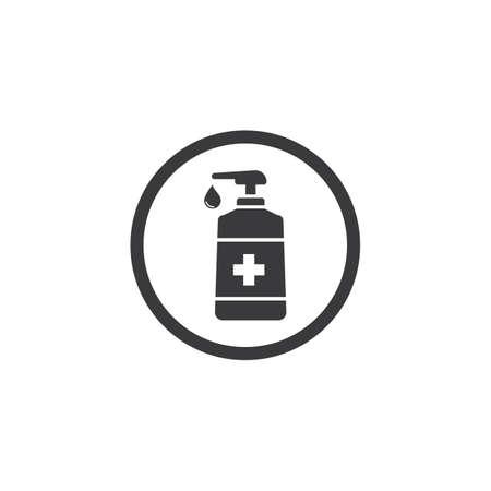 Hand sanitizer icon flat design vector