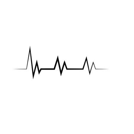 Pulse line ilustration logo vector template Çizim