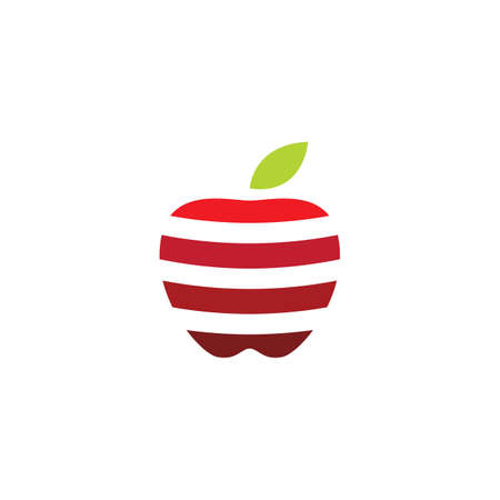 Fresh Apple fruit illustration logo vector design Stok Fotoğraf - 157782664