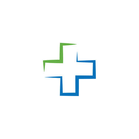 Cross Medical illustration Logo template vector design Stok Fotoğraf - 157782671