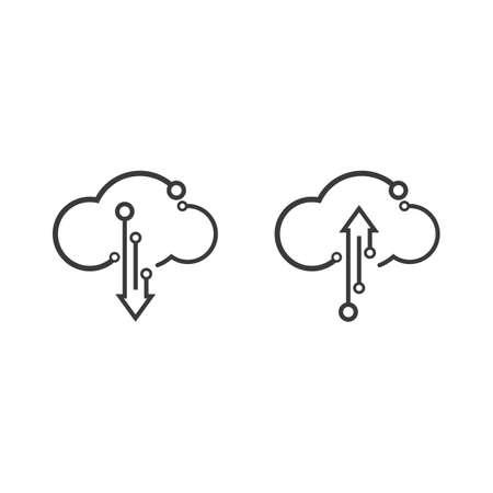 Cloud technology illustration logo vector template design Stok Fotoğraf - 157782687