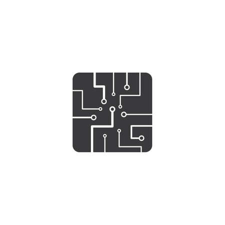 Circuit technology illustration logo vector template Stok Fotoğraf - 157787428