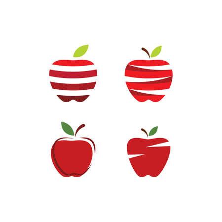 Fresh Apple fruit illustration logo vector design Stok Fotoğraf - 157787511