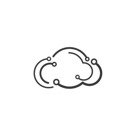 Cloud technology illustration logo vector template design Çizim