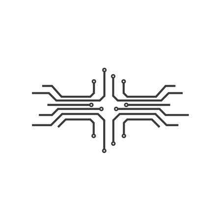 Circuit technology illustration logo vector template Stok Fotoğraf - 157787515
