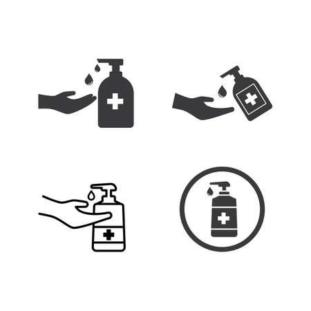Hand sanitizer icon flat design vector Stok Fotoğraf - 157787518
