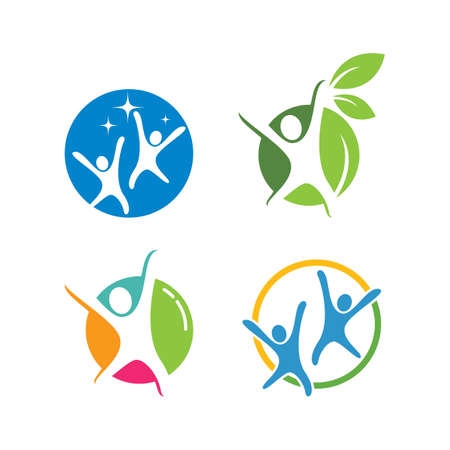 Healthy Life people illustration Logo template vector design