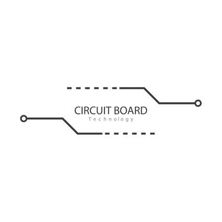 Circuit technology illustration logo vector template