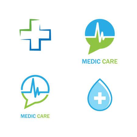 Cross Medical illustration Logo template vector design Stok Fotoğraf - 157787529