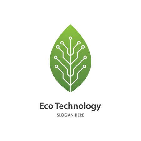 Eco energy illustration logo vector design Çizim