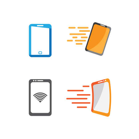 handphone icon vector illustration template