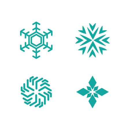 Snowflakes icon illustration flat design
