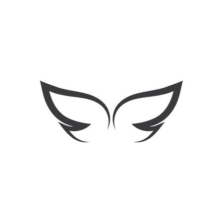 Wing illustration icon and symbol vector design