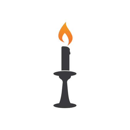 Candle light  icon in flat design vector Çizim