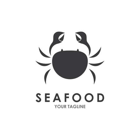 Crab seafood logo ilustration vector template Çizim