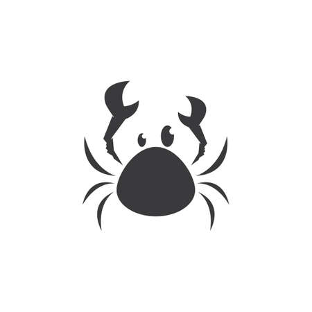 Crab seafood icon ilustration vector template