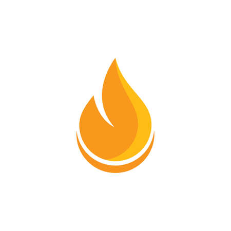 Fire flame illustration icon Template