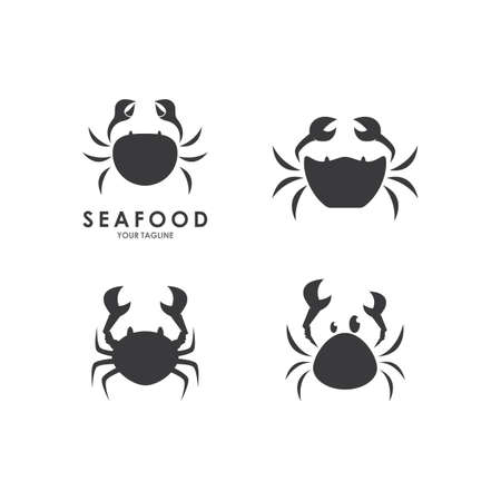Crab seafood  ilustration vector template