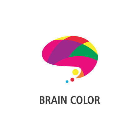 Colorful brain illustration  vector template