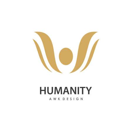People illustration Logo template vector design 向量圖像