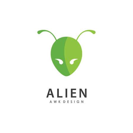 Monster alien illustration flat design