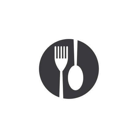 fork and spoon icon vector template