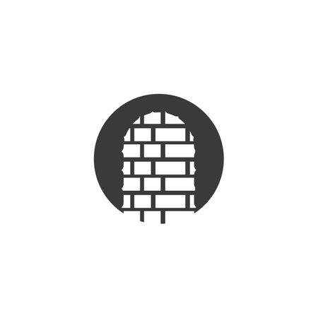 Brick wall illustration vector template