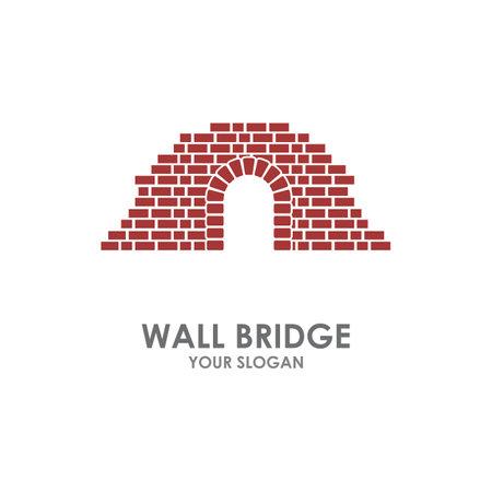 Wall bridge   illustration vector design