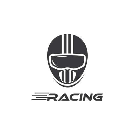 Motorcycle helmet vector design
