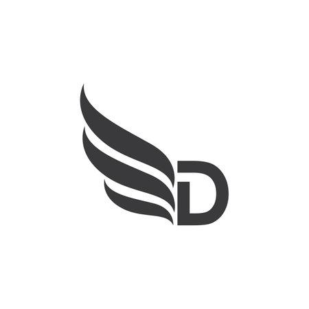 D letter   vector design Ilustracja