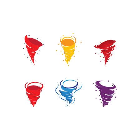 Wind tornado   vector illustration flat design Ilustracja